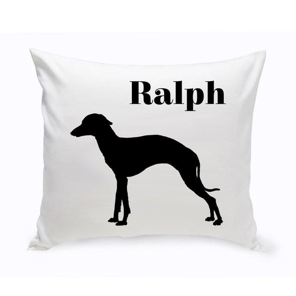 Personalized Dog Throw Pillow - GreyHound - JDS
