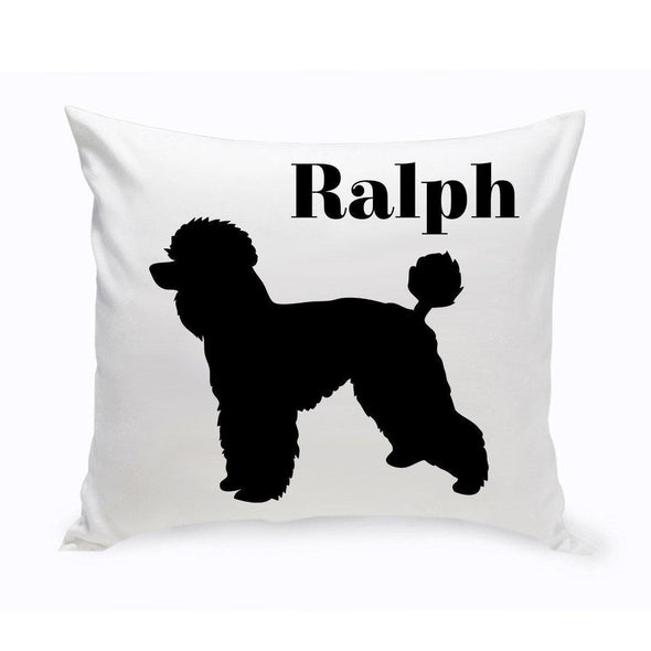 Personalized Dog Throw Pillow - ToyPoodle - JDS