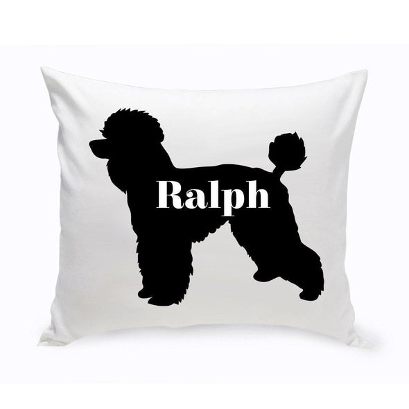 Personalized Dog Throw Pillow - Dog Silhouette - ToyPoodle - JDS