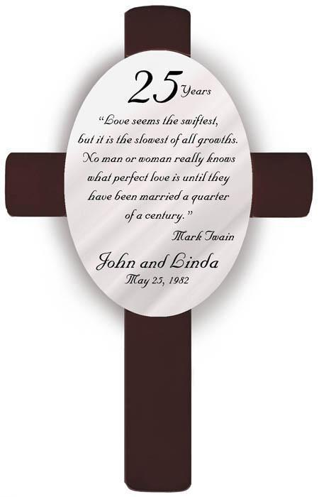 Personalized Anniversary Cross -  - JDS