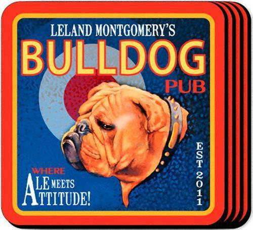Personalized Coaster Set - AleBulldog - JDS