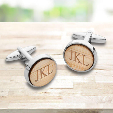 Personalized Bamboo Cufflinks for Men -  - JDS
