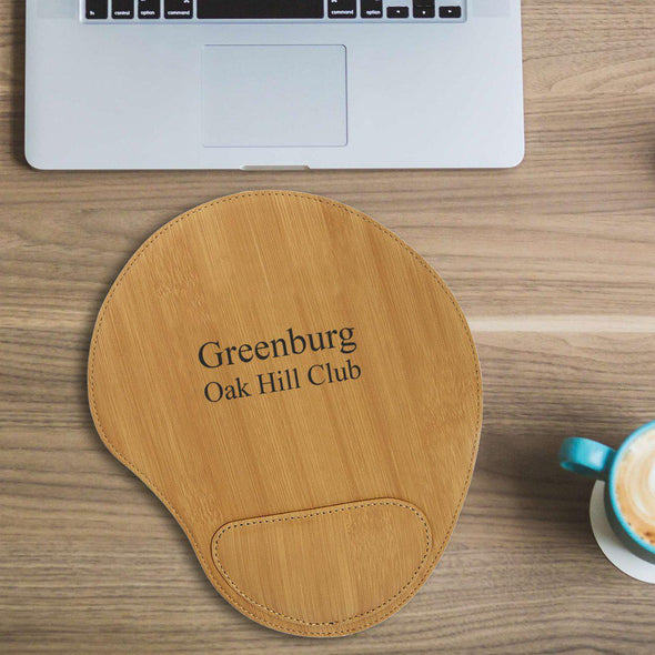 Personalized Mouse Pad - Bamboo - 2Lines - JDS