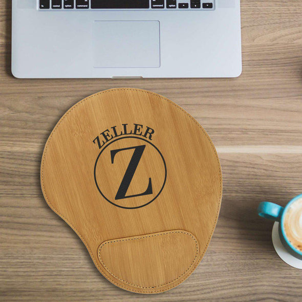Personalized Mouse Pad - Bamboo - Circle - JDS