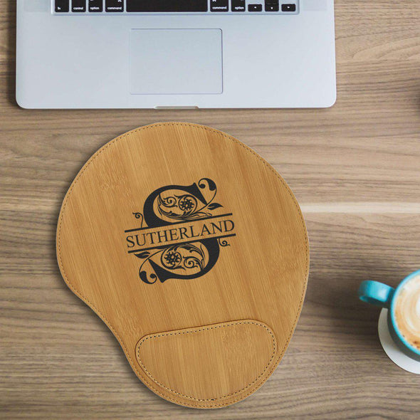 Personalized Mouse Pad - Bamboo - Filigree - JDS