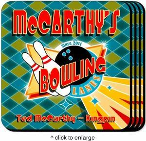 Personalized Coaster Set - Bowling - JDS