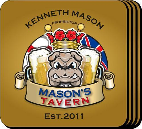 Personalized Coaster Set - BulldogTavern - JDS