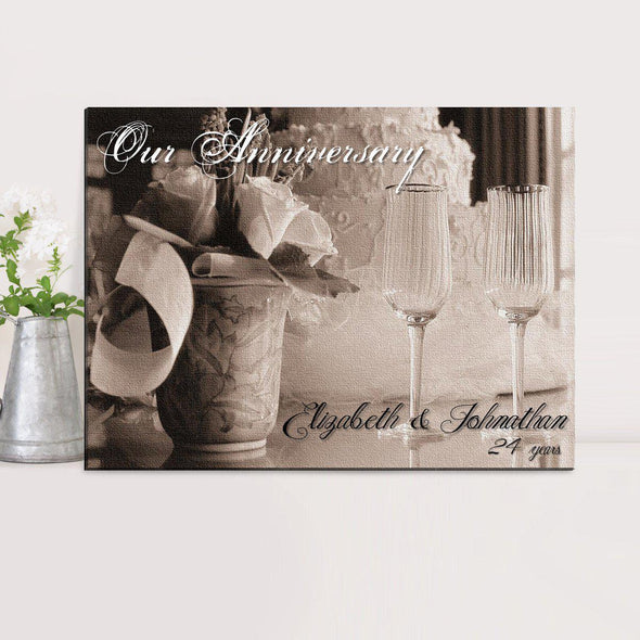 Personalized Couples Canvas Sign - Anniversary - JDS