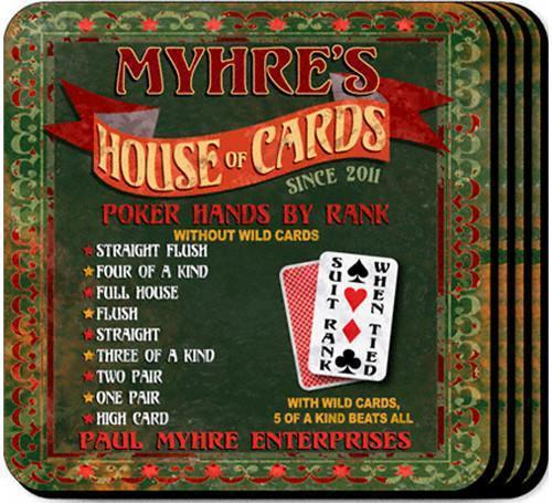 Personalized Coaster Set - HouseofCards - JDS