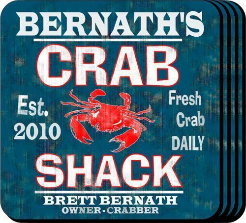 Personalized Coaster Set - CrabShack - JDS