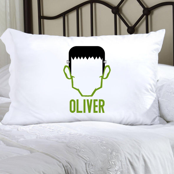 Personalized Halloween Character Pillowcases - Frankenstein - JDS