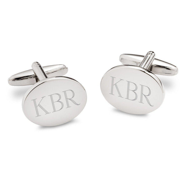 Personalized Modern Oval Cufflinks -  - JDS