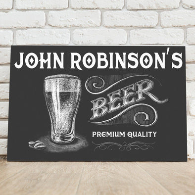 Personalized Premium Beer Canvas Sign -  - JDS
