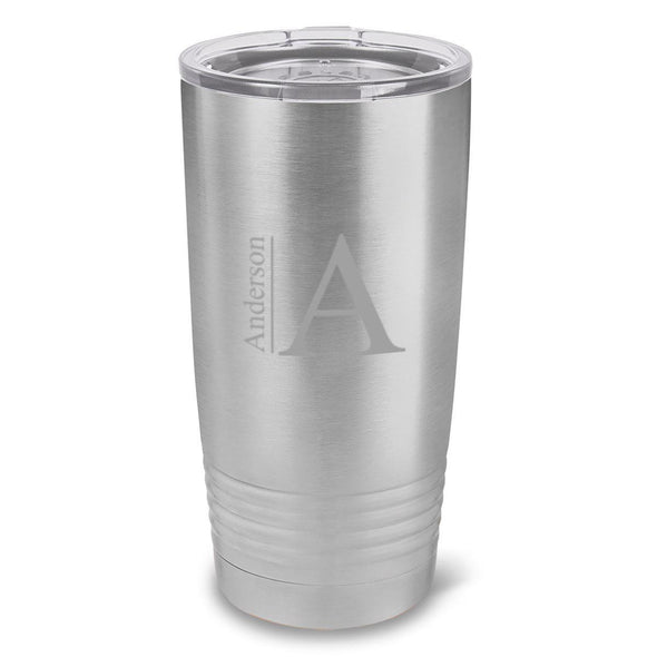 Personalized Húsavík 20 oz. Stainless Silver Double Wall Insulated Tumbler - All - Modern - JDS