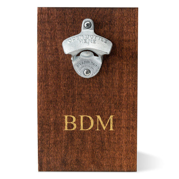 Personalized Wood Plank Wall Bottle Opener - 3Initials - JDS
