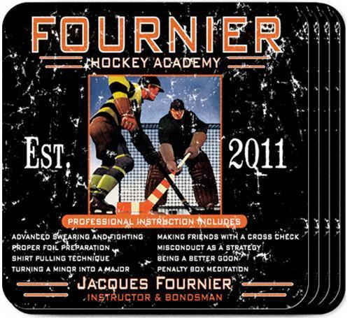 Personalized Coaster Set - HockeyAcademy - JDS