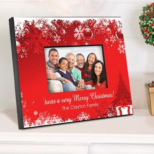 Personalized Holiday Picture Frame - Red - JDS