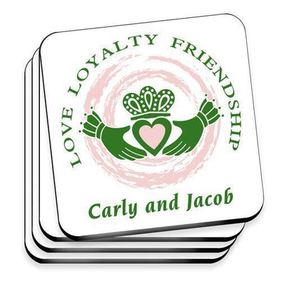 Personalized Irish Family Coaster Set -  - JDS