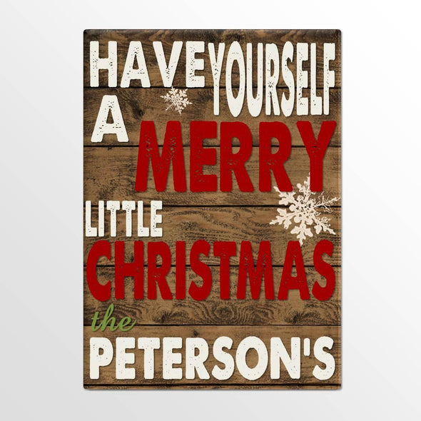 Personalized Holiday Canvas Signs - Merry Christmas -  - JDS