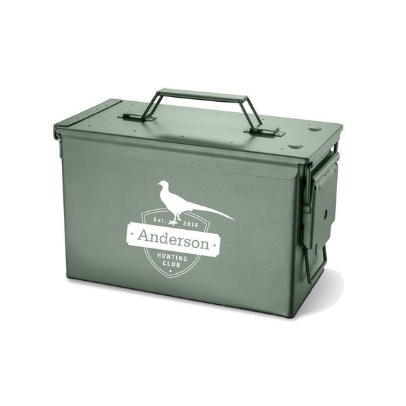 Personalized Metal Box - Multiple Designs - Pheasant - JDS