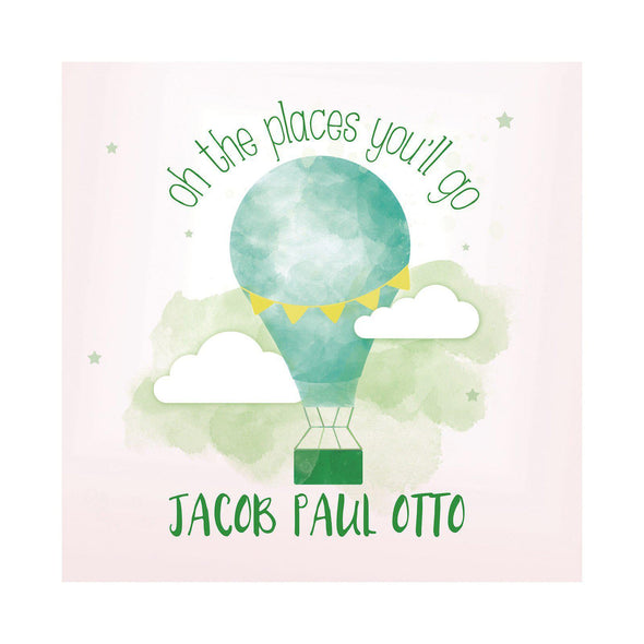 The Places You'll Go Personalized Kids Sign – Hot Air Balloon -  - JDS