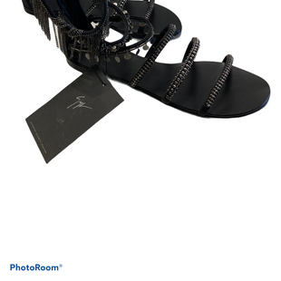 Primary Photo - BRAND: GUISEPPE ZANNOTI DESIGNS STYLE: SANDALS LOW COLOR: BLACK SIZE: 10 SKU: 311-31120-16503