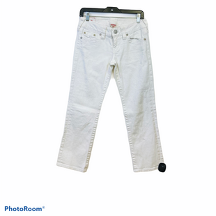 Primary Photo - BRAND: TRUE RELIGION STYLE: CAPRIS COLOR: WHITE SIZE: 4 SKU: 311-31130-4198