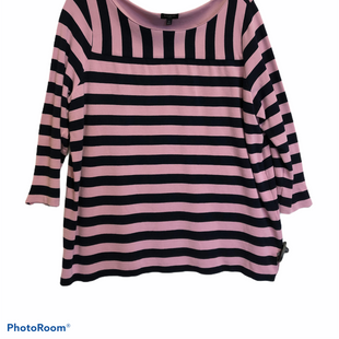 Primary Photo - BRAND: TALBOTS STYLE: TOP LONG SLEEVE COLOR: STRIPED SIZE: 1X OTHER INFO: BLUE PINK SKU: 311-31111-33038AS IS