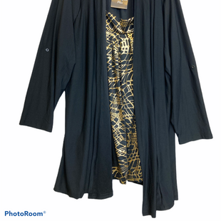 Primary Photo - BRAND:    CLOTHES MENTOR STYLE: TOP LONG SLEEVE COLOR: BLACK SIZE: 3X OTHER INFO: ONCE AGAIN - BLK GOLD SKU: 311-31111-34628ONE PIECE WITH THE LOOK OF TWO