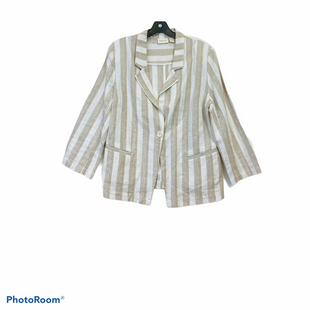 Primary Photo - BRAND: CHICOS STYLE: BLAZER JACKET COLOR: TAN SIZE: XL SKU: 311-31130-451655% LINEN 44% COTTON