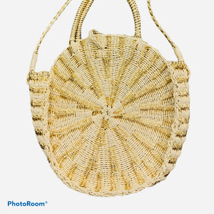 "Primary Photo - BRAND: MUDPIE STYLE: HANDBAG COLOR: STRAW SIZE: LARGE SKU: 311-31130-5081NO SIGNS OF WEAR14X13X4""19"" DROP"
