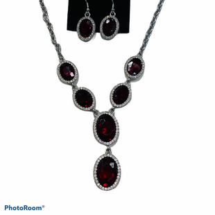 Primary Photo - BRAND:    CLOTHES MENTOR STYLE: NECKLACE SET COLOR: RED SIZE: 02 PIECE SET SKU: 311-31130-4299