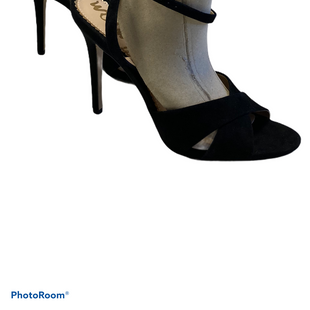 "Primary Photo - BRAND: SAM EDELMAN STYLE: SANDALS HIGH COLOR: BLACK SIZE: 7.5 SKU: 311-31120-16383NO SIGNS OF WEARINSERTS IN PICTURE TO HELP VISUALIZE THE STRAPS4"" HEEL"