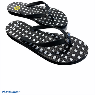 Primary Photo - BRAND: COACH STYLE: FLIP FLOPS COLOR: BLACK WHITE SIZE: 9 SKU: 311-31120-16666