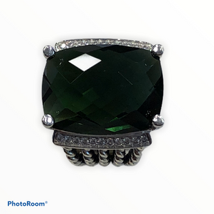 Primary Photo - BRAND: DAVID YURMAN STYLE: RING COLOR: GREEN OTHER INFO: WHEATON SKU: 311-31130-5420. SIZE 7.5.