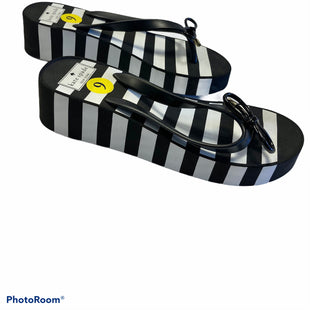 Primary Photo - BRAND: KATE SPADE STYLE: SANDALS LOW COLOR: BLACK WHITE SIZE: 9 SKU: 311-31130-4342
