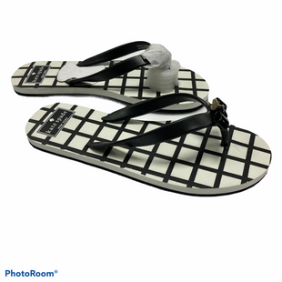 Primary Photo - BRAND: KATE SPADE STYLE: FLIP FLOPS COLOR: BLACK WHITE SIZE: 7 OTHER INFO: 7-8 SKU: 311-31116-2801LIKE NEW CONDITION
