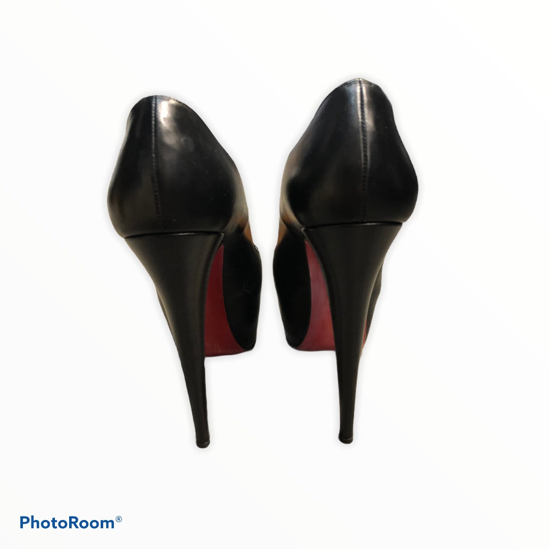 Photo #3 - BRAND: CHRISTIAN LOUBOUTIN <BR>STYLE: SHOES HIGH HEEL <BR>COLOR: BLACK <BR>SIZE: 8.5 <BR>SKU: 311-31120-14446<BR>SIZE 38.5