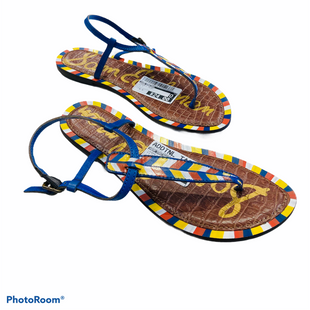 Primary Photo - BRAND: SAM EDELMAN STYLE: SANDALS FLAT COLOR: MULTI SIZE: 8.5 SKU: 311-31116-2368NO SIGNS OF WEAR