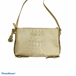 "Primary Photo - BRAND: BRAHMIN STYLE: HANDBAG DESIGNER COLOR: CREAM SIZE: SMALL SKU: 311-31130-425710X6.5X1""11"" DROP"