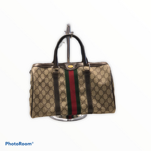 Primary Photo - BRAND: GUCCI STYLE: HANDBAG DESIGNER COLOR: MONOGRAM SIZE: MEDIUM OTHER INFO: BR BOSTON BAG 40 3842 SKU: 311-31111-40266