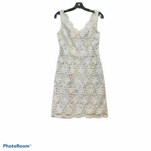 Primary Photo - BRAND: ANN TAYLOR STYLE: DRESS SHORT SLEEVELESS COLOR: CREAM SIZE: 0 SKU: 311-31130-1132CREAM AND TAN. 54% COTTON / 36 POLYESTER.