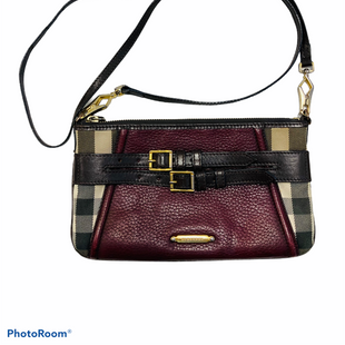 "Primary Photo - BRAND: BURBERRY STYLE: HANDBAG DESIGNER COLOR: BURBERRY PLAID SIZE: SMALL SKU: 311-31111-401759.25X5.5""24"" DROP"