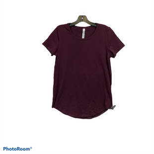 Primary Photo - BRAND: LULULEMON STYLE: ATHLETIC TOP SHORT SLEEVE COLOR: BURGUNDY SIZE: 6 SKU: 311-31130-5804