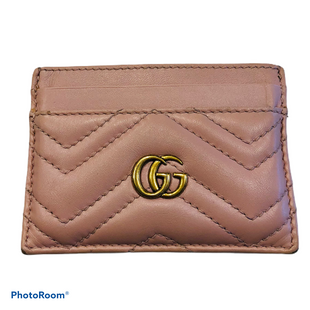 Primary Photo - BRAND: GUCCI STYLE: WALLET COLOR: PINK SIZE: SMALL SKU: 311-31120-14968443127 203887GOOD. MODERATE SCUFFING AT CORNER, MODERATE MARKS AT EXTERIOR.