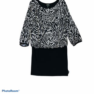 Primary Photo - BRAND: NICOLE BY NICOLE MILLER STYLE: DRESS SHORT LONG SLEEVE COLOR: BLACK WHITE SIZE: L SKU: 311-31130-3669