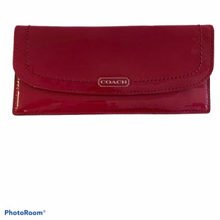 Primary Photo - BRAND: COACH STYLE: WALLET COLOR: RASPBERRY SIZE: MEDIUM SKU: 311-31120-16176LIKE NEW CONDITION H 3.5IN X W .5IN X L 7.75IN