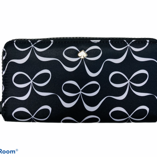 Primary Photo - BRAND: KATE SPADE STYLE: WALLET COLOR: BLACK WHITE SIZE: MEDIUM OTHER INFO: JAE ELEGANT BOW CONTIN $229 RET SKU: 311-31111-39948