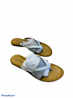 Primary Photo - BRAND: LUCKY BRAND <BR>STYLE: SANDALS FLAT <BR>COLOR: SILVER <BR>SIZE: 9 <BR>SKU: 311-31130-5784