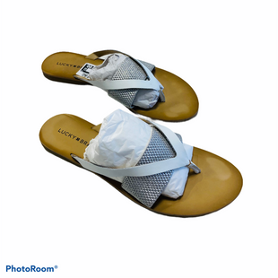 Primary Photo - BRAND: LUCKY BRAND STYLE: SANDALS FLAT COLOR: SILVER SIZE: 9 SKU: 311-31130-5784